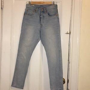 Levi's Light Blue 501 Skinny Jeans (Size 26)